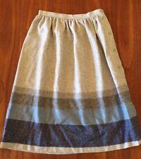 TOUCHE Vintage 1980's Light Grey Wool Blend Button Side A Line Skirt ~ 10 12