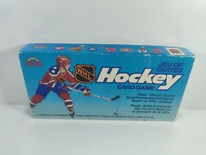NHL Hockey Card Game Grand Toys 1985 Complete Edmonton and Vancouver