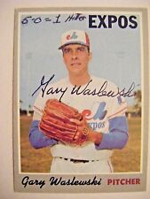 GARY WASLEWSKI signed EXPOS 1970 Topps baseball card AUTO Autographed YANKEES
