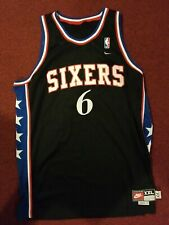 Julius Erving Jersey Philadelphia 76ers Sixers 77 XXL Black Basketball HOF JF