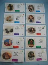 1996 Limited Edition BENHAM 10 piccolo SETA TIMBRO copre 'Saluti's Cats & Dogs
