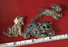 3 STERLING SILVER DISNEY DALMATION PUPPY DOG PINS