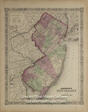 1866 Johnson's New Jersey, Rare Atlas Map