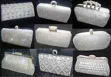 Bling Diamond Crystal Diamante Evening bag Clutch Purse Bride Prom Wedding Party