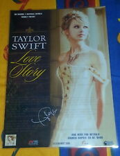 TAYLOR SWIFT - LOVE STORY - SIGNED AUTOGRAPHED - Laminated  Promo Poster