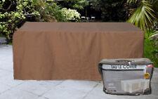Housse pour table de jardin confort rectangulaire 196cm marron