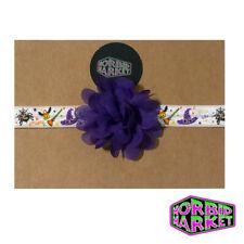 Hecho A Mano Halloween Bruja Candy Corn Bebé Niños Halloween vincha con flor Gótico