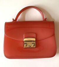 FURLA Jelly Candy Mini Hand Bag Pink Rose No Strap