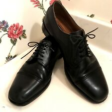 Florsheim Imperial Mens Derby Cap Toe Black Leather Dress Oxford Shoes Size 10D