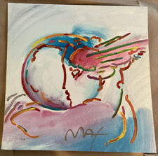 Peter Max 'I Love The World'   Hand signed Printers Proof 11x11 Inches Unframed