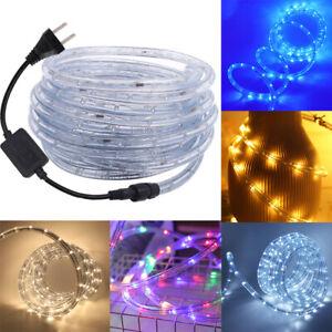 1m-100m LED Rope Tube String Fairy Lights Christmas Party Outdoor Garden 110V