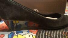 Giani Bernini black suede wedge shoes, 7.5