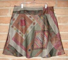 NWT Coldwater Creek Short SKIRT Geometric Herringbone Tweed Womens PXL Petite 18