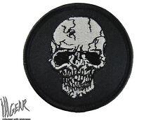 ill Gear sk1-cbd White SKULL HOOK & LOOP Patch Tactical Survival Zombie GITD GID