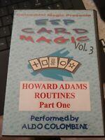 ESP Card Magic (Howard Adams Routines Part 1) Vol. 3 by Aldo Colombini - DVD