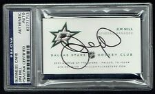 Jim Nill signed autograph Business Card General Manager Dallas Stars PSA Slabbed