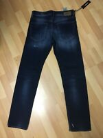 NWD Mens Diesel BUSTER SMOOTH Stretch Hard Denim 084GF BLUE Slim W32 L32 H6.5