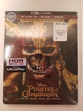 Pirates of the Caribbean: Dead Men Tell No Tale 4K OOP STEELBOOK+Blu-ray+Digital