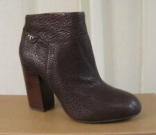 NEW TORY BURCH Fulton 100MM Dark Brown Leather Zip Bootie Ankle Boot Heel US 8.5