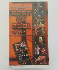 BEST OF THE WWF 2001 VHS Pal *WWE WCW Wrestling