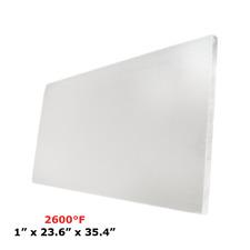 "1"" Refractory Ceramic Fiber Insulation Board 2600F 23.6"" x 35.4"""