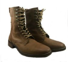 Cole Haan With NikeAir Sole Tan Brentley Military Leather Lace Up Mens Boots 8.5