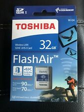 Toshiba 32GB FlashAir GENUINE SDHC SD Wireless Class 10 U3 4K W-04 UK SELLER