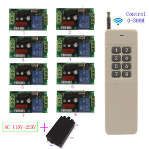 220V 110V RF Wireless Home Switch Module In/Outdoor 300M Remote Control Switch