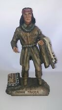 DEE FLAGG (1922 - 1999) Rare Handmade 'Indian Trader' Wood Carved Sculpture 12""