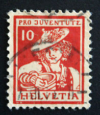 Timbre SUISSE - Stamp SWITZERLAND - Yvert et Tellier n°153 (a) obl (Cyn15)