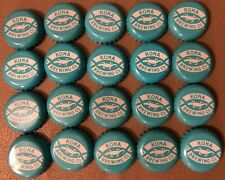 20 Kona Brewing Co. Hawaii Beer Caps Lids Aqua & White Color WASHED CLEAN!