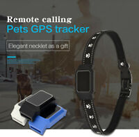 Mini Waterproof Pet Collar Cat Locator GPS GSM Alarm Tracker Anti-lost Locator