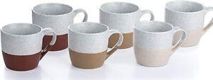 Waterside Fine China 6 Piece Desert Mug Set