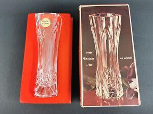 Vintage Cristal d' Arques Small Vase Lead Crystal Chatelet aus echt Bleikristall