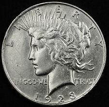 1923-d Peace Silver Dollar.  VAM.  Obverse Die Cracks.  A.U.  91248