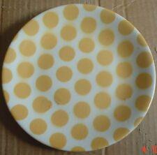 Vintage Tams England Side Plate Polka Dot Spotted Yellow Mustard
