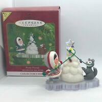 2001 Hallmark Keepsake Frosty Friends Repaint 22 in Series Christmas Ornament