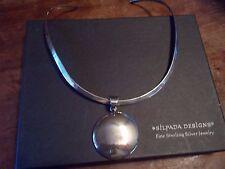 SILPADA 925 Sterling Silver Collar Choker Necklace & Pendant Retired W/BOX