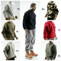 """Costume 1/6 Capless Pullover Sweater Clothes Fit 12"""" Male Action Figure Body"""