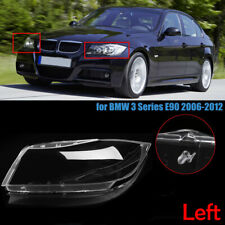 Left Front Clear HID Headlight Headlamp Lens Cover For BMW 3 Series E90 2005-12