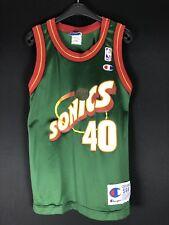Authentic Champion Shawn Kemp Sonics S6-8 NBA Basketball Trikot Jersey Kids