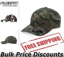 Flexfit Mens Camo Cap Hat Baseball 6977CA six-panel, low-profile 2 Sizes