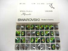 6 swarovski square rivoli stones,14mm vitrail medium #4650