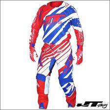 Completo da Motocross JT RACING USA HYPERLITE Red White Blue FINE SERIE Tg.32-L