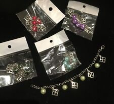 Charm Bracelet with Heart & Bead Charms
