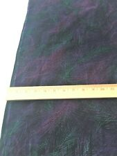 "Pinwale corduroy -black with pink, purple, turquoise feather design 28"" x 44"""