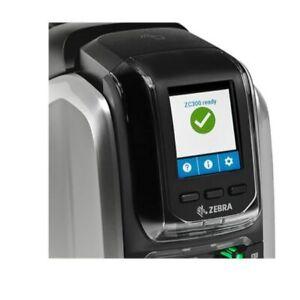 Zebra ZC300 Single Sided Colour Card printer with Magnetic Encoder usb Ethernet