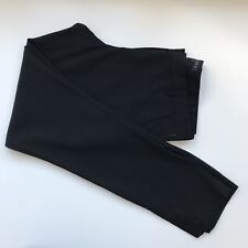 Theory Black Wool Blend Career Pants with Size Zipper, Size 8 / Made In USA