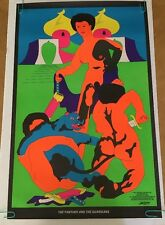 Panther & the Guardians original vintage black light poster 1972 Apogee Day glow