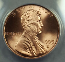 1995-D ANACS MS69RD SUPERB GEM BU LINCOLN CENT SOLO FINEST NONE BETTER 6187535